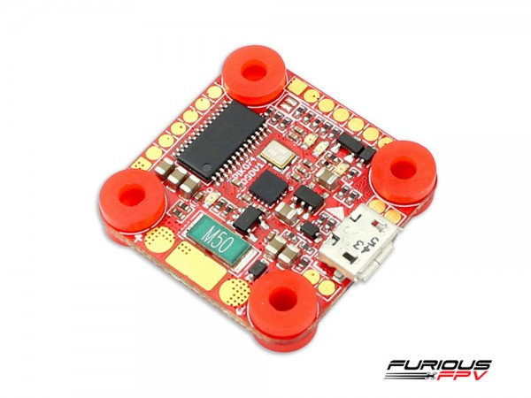 Furious FPV Piko F4 OSD Flight Controller Angled Oben