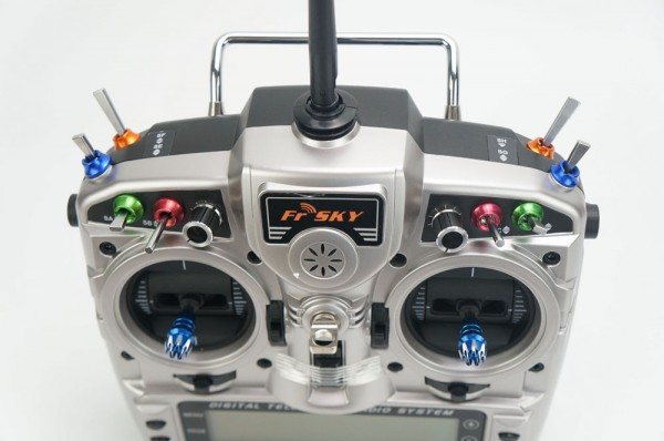 FrSky STP Aluminium Nuts Taranis X9D Plus Gutaba JR Front All colors