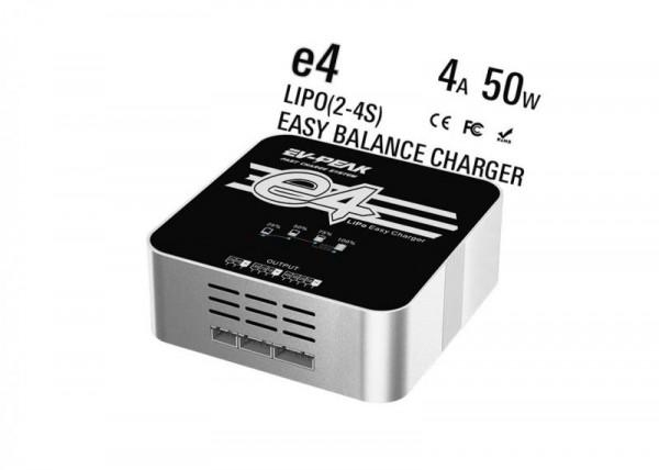 EV-PEAK E4 LiPo Ladegerät Charger 50W 4A