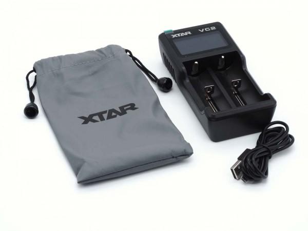 XTAR V2 USB Ladegerät Li-Ion Inhalt Komplett