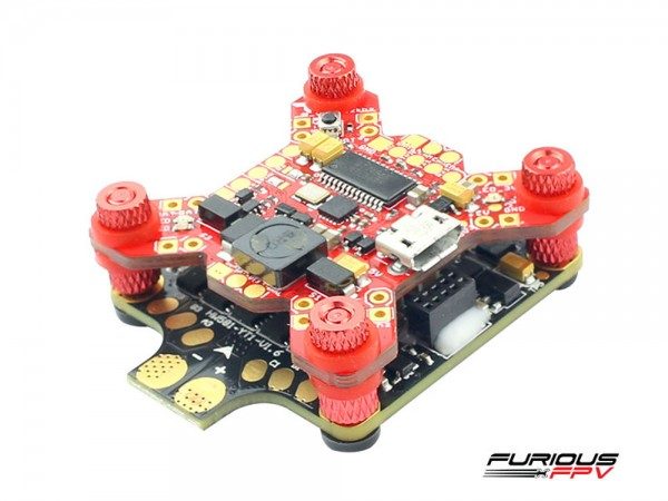 Furious FPV Combo Fortini OSD ESC 40A HobbyWing Angled View