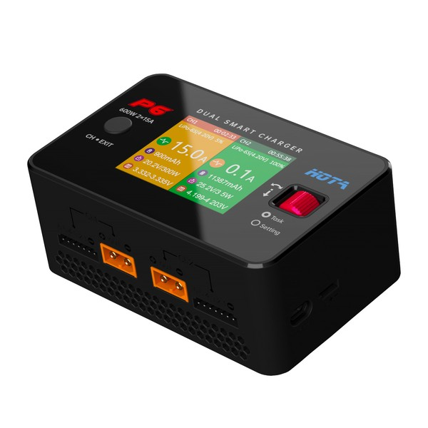 HOTA P6 Dual Smart Charger DC 2 x 300W