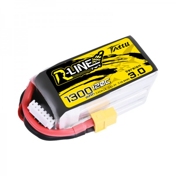 Tattu R-Line Version 3.0 1300mAh 6S XT60 LiPo 22.2V 120C